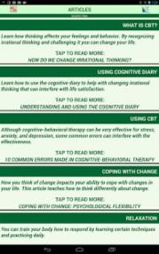 Cognitive Diary CBT Self Help App Screenshot 03