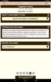Cognitive Diary CBT Self Help App Screenshot 04