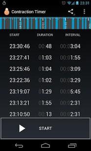Contraction Timer App Screenshot 01