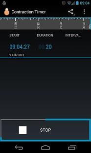 Contraction Timer App Screenshot 05
