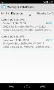 Meeting Finder App Screenshot 02
